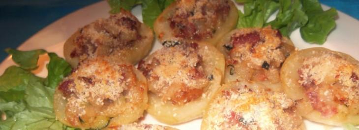 Barchette di patate farcite al prosciutto