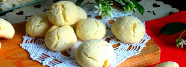 Biscotti 'craquelés' al limone