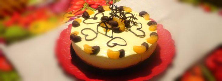 Cheesecake con clementine e cioccolato