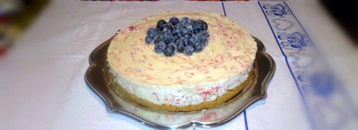 Cheesecake al pompelmo rosa