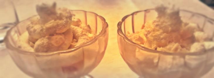 Coppa al cioccolato bianco e limoncello