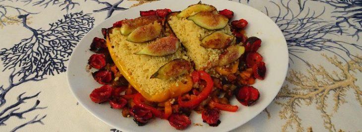 Couscous di verdure e fichi