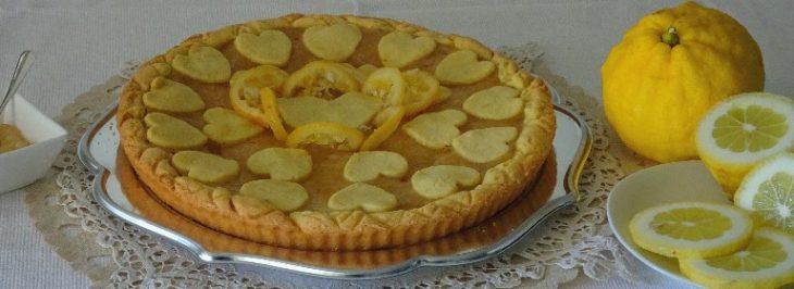 Crostata con marmellata di limoni e zenzero