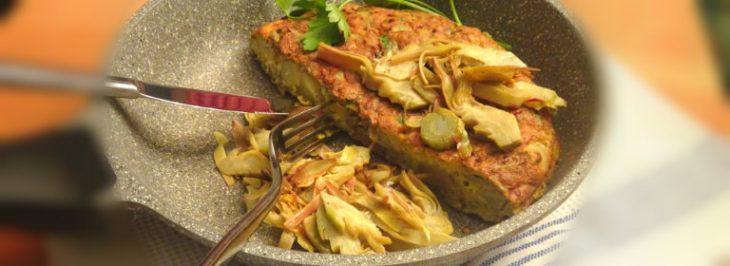 Frittata con carciofi, patate e pecorino
