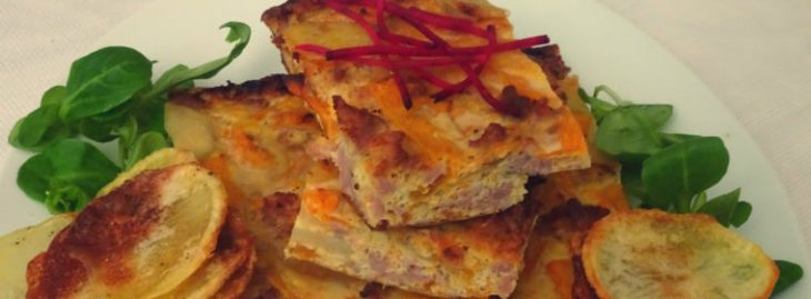 Frittata di zucca con patate e salsiccia