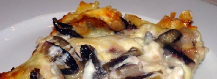 Lasagne con radicchio e stracchino