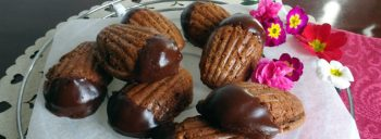 Madeleine pralinate al cioccolato