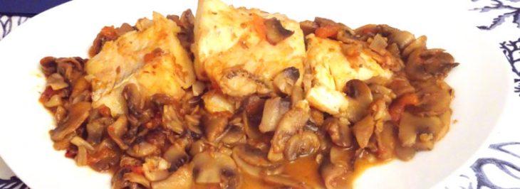 Merluzzo e champignon alla provenzale