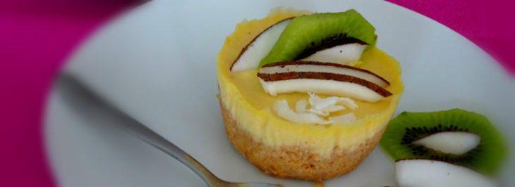 Mini cheesecake al cocco e mango