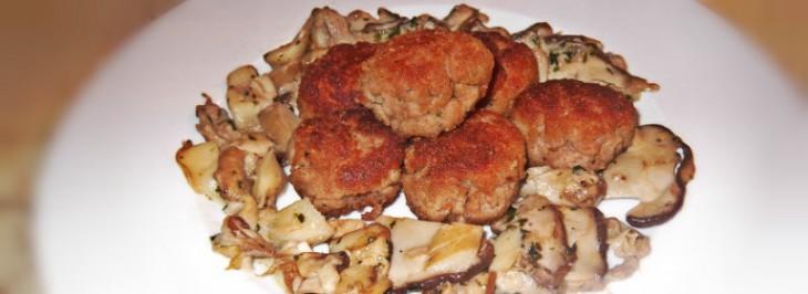 'Mondeghili' con funghi porcini trifolati