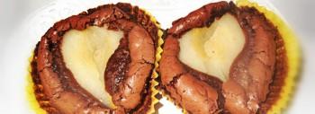 Tortino al cioccolato dal cuore di pera