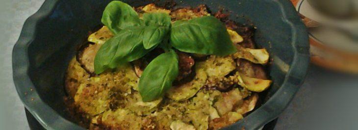 Pasticcio di melanzane e zucchine