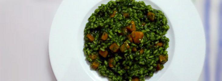 Risotto alla crema di spinaci e zucca