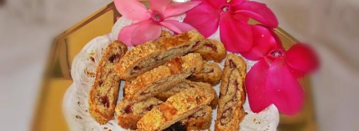 Biscotti arrotolati con confettura di prugne