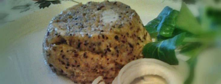 Sformatini di polenta di Mais Corvino con robiola e porri