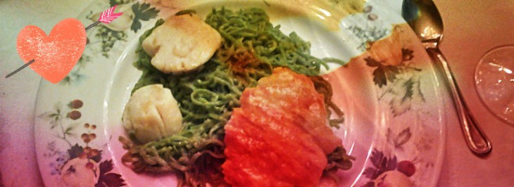 Tagliolini verdi in sfoglia con capesante