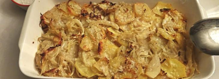 Teglia di finocchi e patate al forno