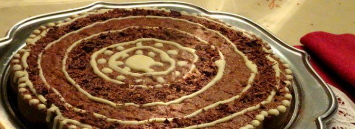 Torta con cioccolato e cannella