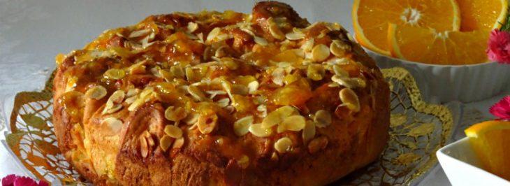 Torta soffice alla confettura di arance e mandorle