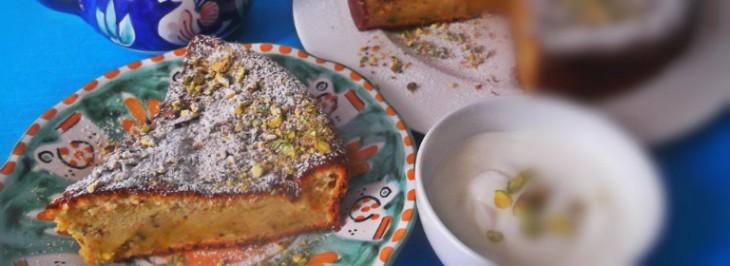 Torta di yogurt e pistacchi