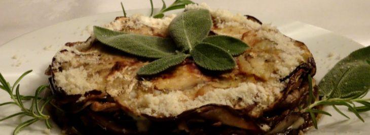 Tortino salato di funghi, melanzane e scamorza