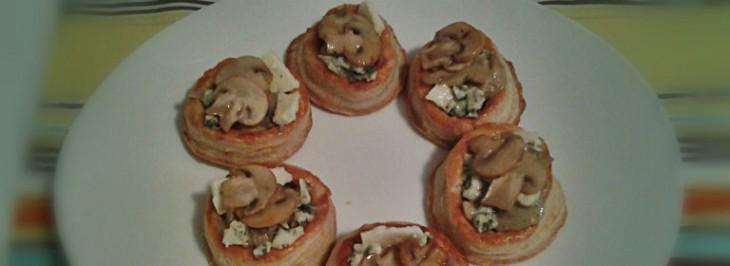 Vol-au-vent agli champignon e roquefort