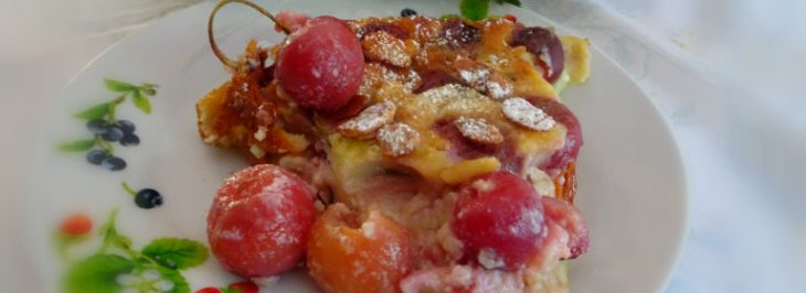 Clafoutis alle ciliegie e mandorle