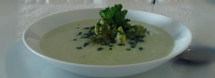 Crema di broccolo romano e patate