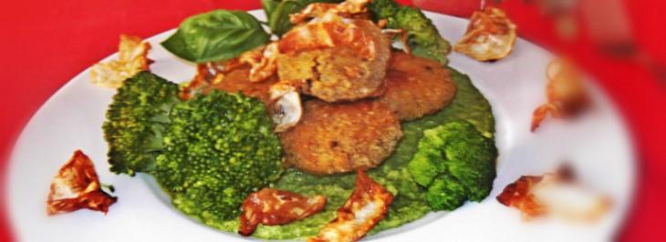 Crocchette di mais corvino con mousse di broccoli