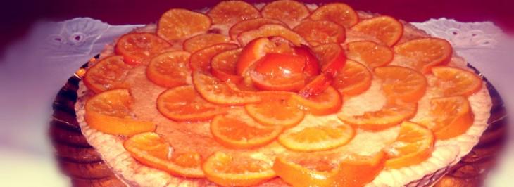 Torta agli agrumi con clementine caramellate