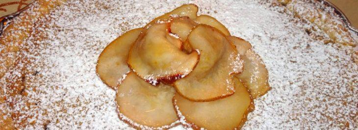 Crostata ai marroni con fiore di pera