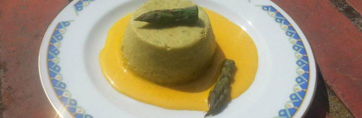 Flan di asparagi con ricotta e yogurt greco