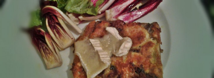 Frittata al radicchio e Camembert