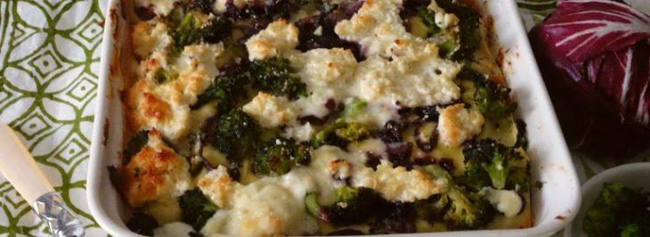 Lasagne con broccoletti, radicchio e pecorino sardo