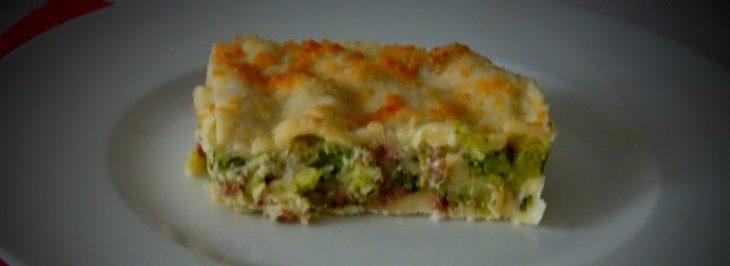 Lasagne con salsiccia, broccoli e pecorino