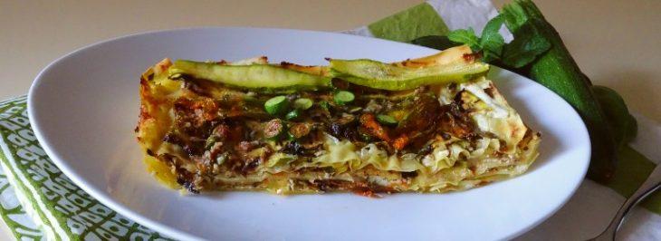 Lasagne alle zucchine, fiori di zucca e alici