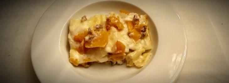 Lasagne alla zucca con stracchino e salsiccia