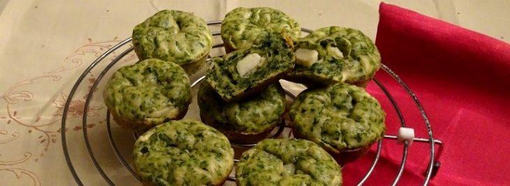 Muffin salati alle erbette e feta
