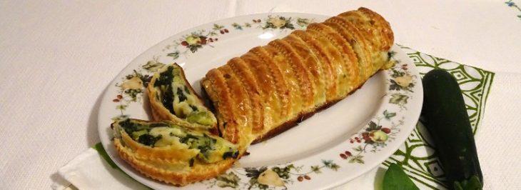 Strudel di zucchine e spinaci