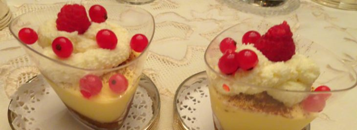 Tiramisù al cioccolato bianco e frutti rossi