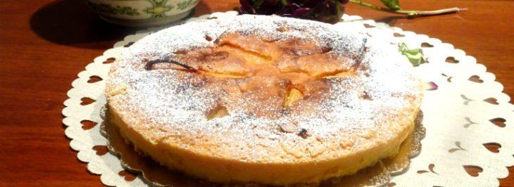 Torta paradiso con pere al miele di acacia