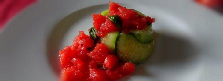 Tortino di zucchine con primo sale e mozzarella