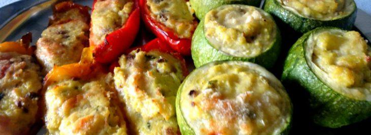 Zucchine e peperoni ripieni